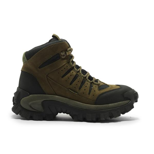 Woodland olive green trekking boots